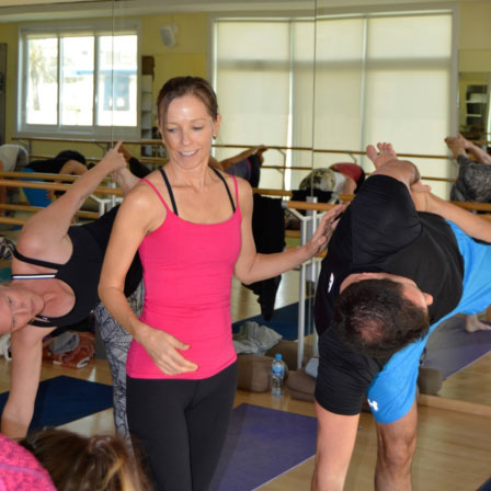 Justine Holding a Yoga Class